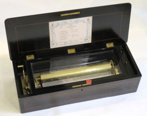 'Mandoline' cylinder musical box by BA Bremond
