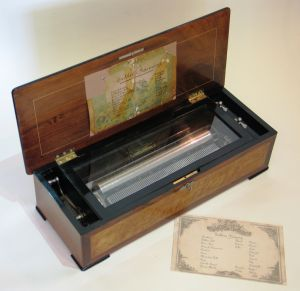 A 'Sublime Harmony' cylinder musical box by George Baker