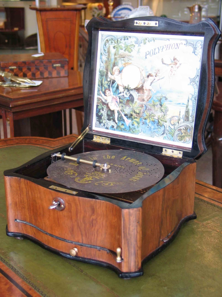 A Disc Musical Box By Polyphon Of Leipzig Germany
